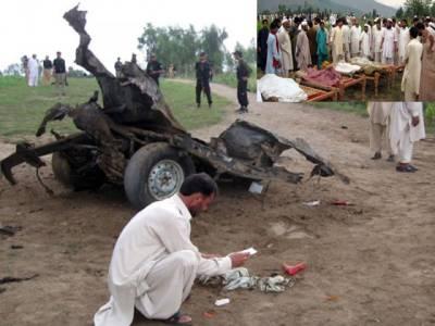 لوئر دیر میں ویگن کے قریب دھماکہ ، خواتین اور بچوں سمیت 15مسافر جاں بحق