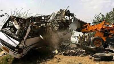 بھکر کے قریب بس اور ٹرالر میں تصادم سے چار افراد جاں بحق ،25زخمی