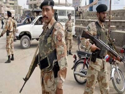 کراچی میں رینجرز کا ٹارگٹڈ آپریشن ، 15افراد گرفتار، اسلحہ برآمد