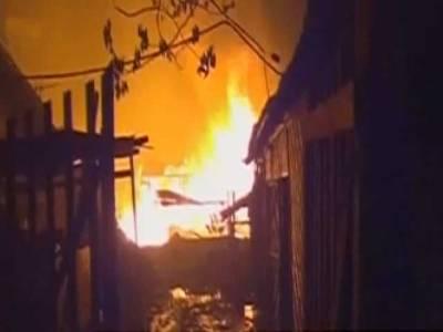 برمامیں مسلمانوں کے دو سو سے زائد مقانات نذر آتش