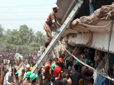 بنگلہ دیش میں عمارت گرنے سے ہلاکتوں کی تعداد175ہوگئی