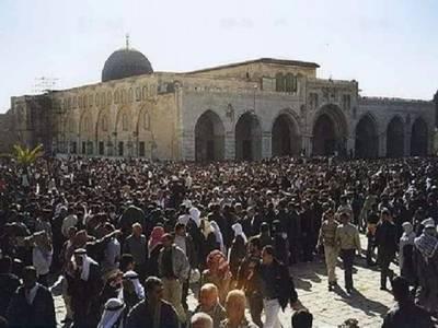 یہیودی آباد کاروں کا مسجد اقصیٰ پر حملہ ، مسجد میں تلمودی رسومات کی ادائیگی کی کوشش