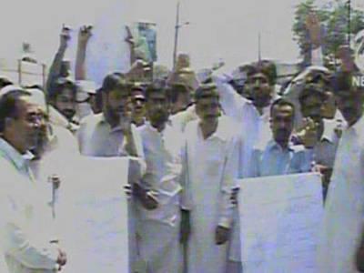 میرپور ماتھیلومیں تنخواہوں کی عدم ادائیگی پر میونسپل ملازمین کا تیسرے روز بھی احتجاج