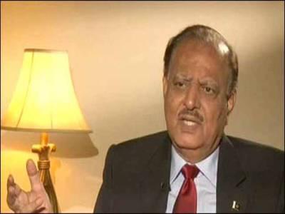 پاکستان کشمیریوں کی سفارتی، اخلاقی اور سیاسی حمایت جاری رکھے گا:صدر ممنون حسین