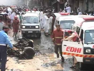 پشاورکے نواحی علاقے میں پولیو آگاہی سیمینار کے دوران دھماکہ ، پولیس اہلکاروں سمیت چھ افراد شہید،12 زخمی