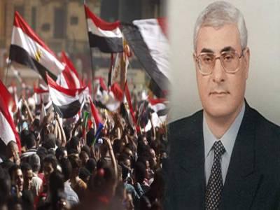 مصر کے عبوری صدر عدلی منصورنے پرامن مقاصد کیلئے نیوکلیئر منصوبے کا اعلان کر دیا