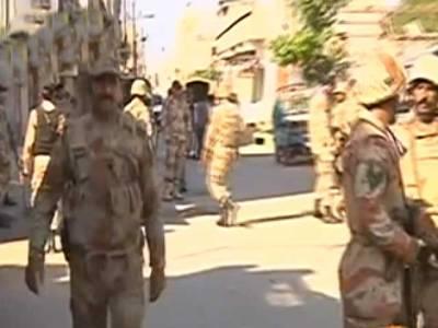 کراچی میں رینجرز کی چھاپہ مارکارروائیاں ،18مشتبہ افرادگرفتار، اسلحہ برآمد
