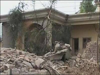 پشاور میں ٹیلی فون ایکسچینج کی عمارت کے باہردھماکہ ، جزوی نقصان