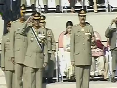 اشفاق پرویز کیانی کے 'رخصتی 'کے وقت لکی یونٹوں کے ذکرپر جنرل راحیل شریف اور وحیدکاکڑہنس پڑے