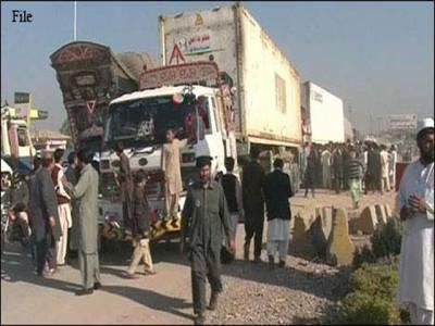 نیٹوسپلائی کیخلاف دھرنا جاری ، تین کنٹینر پکڑ کر واپس بھیج دیئے : کارکنان