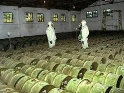 کیمیائی ہتھیاروں کی پہلی کھیپ شام سے روانہ