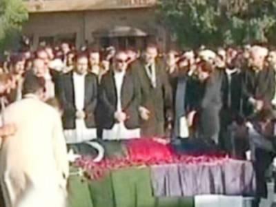 چوہدری اسلم کی نماز جنازہ ادا کر دی گئی