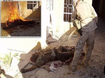 عراق پر حملے کے دوران امریکی فوجی عراقی فوجیوں کو آگ لگاتے رہے