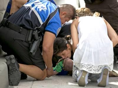 بہادر عورت نے بچے کو موت کے منہ سے کھینچ لیا