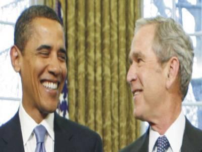 اوباما بش ہوگئے