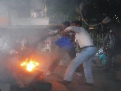 خود کو آگ لگا کر سیاستدان کو بھی مارڈالا