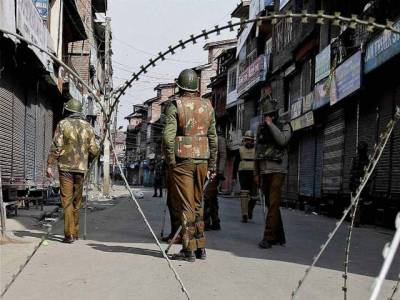 مقبوضہ کشمیر میں کرفیو نافذ،انتخابات ڈرامہ فلاپ
