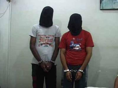 کراچی:2ملزمان اسلحہ اور مسروقہ سامان سمیت گرفتار