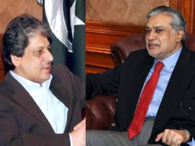 وزیر خزانہ اسحاق ڈار کا گورنر سندھ سے رابطہ ، ہمدردی کا اظہار