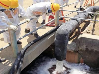 جاپان میں تابکاری پانی کے اخراج کو روکنے کے لئے برف کی دیوار کی تعمیر
