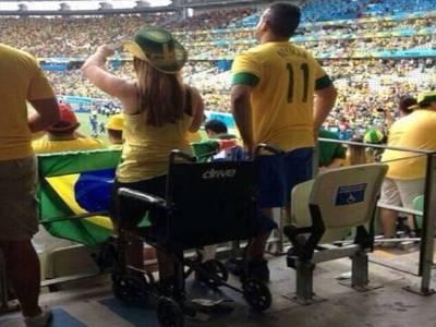 فٹبال ورلڈ کپ:'معذور' بھی اٹھ کھڑے ہوئے