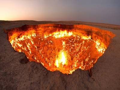 ترکمانستان میں 'جہنم کا دروازہ' سیاحوں کی توجہ کا مرکز