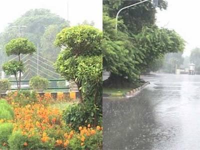ملک کے مختلف شہروں میں بارش ، موسم خوشگوار ہو گیا