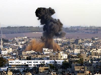 اسرائیلی طیاروں کی غزہ میں پھر بمباری، 4 فلسطینی بچے شہید