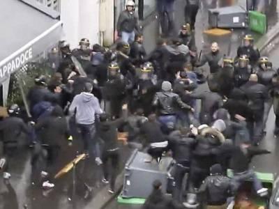 فرانس میں اسرائیل مخالف ریلی پر غنڈوں کا حملہ