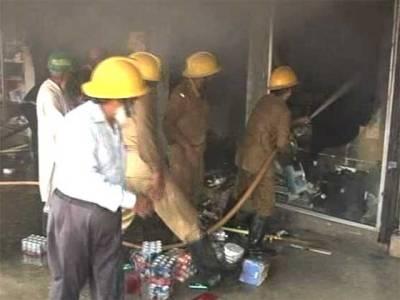 لاہور: سٹور میں آتشزدگی، لاکھوں کا سامان جل گیا