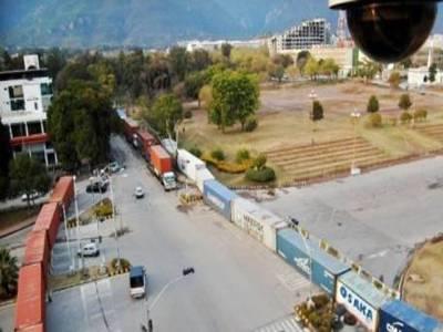 اسلام آباد میں بھی کنٹینرراج ، دارلحکومت ویران کردیاگیا