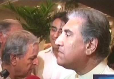 حکومت اور تحریک انصاف میں مذاکرات جاری، استعفے کے مطالبہ میں کمی نہیں آئی: شاہ محمود