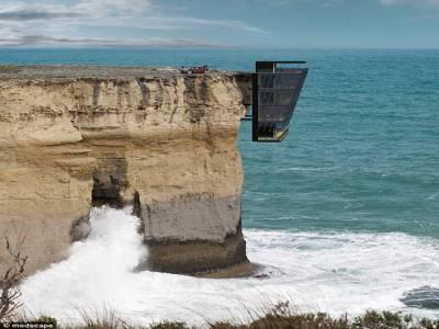آسٹریلوی کمپنی نے سمندر کی لہروں کے عین اوپر فضاءمیں معلق گھر بنا دیا