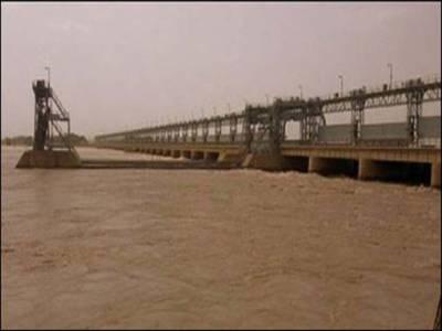 دریائے سندھ کا سیلابی پانی براستہ کوٹری بیراج سمندر میں گرنا شروع ہوگیا