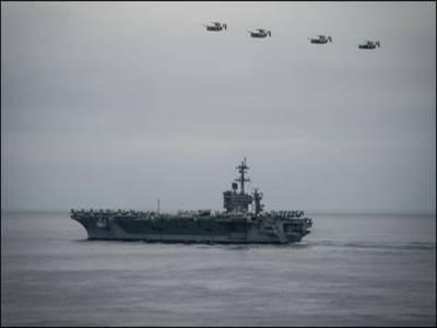 خلیج فارس میں کھڑے طیارہ بردار جہازوں کی ویڈیو جاری کر دی گئی