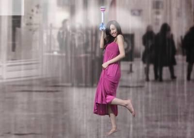 """سائنسدانوں نے حیرت انگیز """"طلسماتی"""" چھتری ایجاد کرلی"""