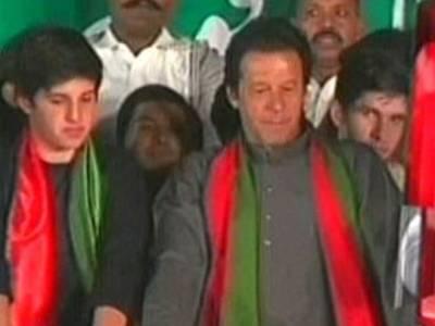 عمران خان کے بیٹے بھی دھرنے میں پہنچ گئے