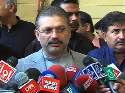 کراچی آپریشن جاری رہے گا، عزیر بلوچ گروپ تحریک انصاف کو سپورٹ کر رہا ہے: شرجیل میمن