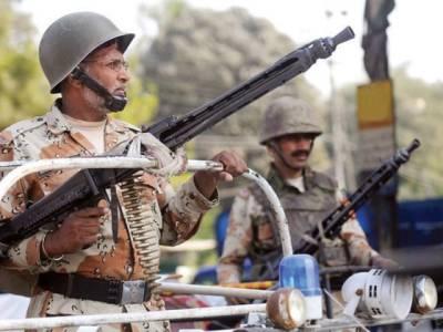 رینجرز کے کراچی بھر میں چھاپے ،46 ملزمان گرفتار ، اسلحہ بر آمد