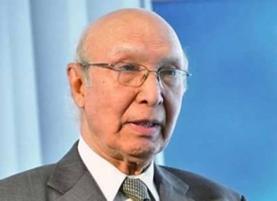 مذاکرات کا خاتمہ بھارت نے کیا، بحالی کا فیصلہ بھی ا سی کو کرنا ہو گا: سرتاج عزیز