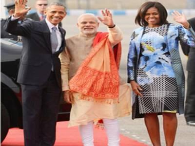 بھارتی وزیراعظم کامشعل اوباماکے لیے 100قیمتی ساڑھیوں کا تحفہ
