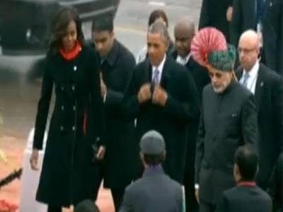 بھارتی یوم جمہوریہ کی تقریب جاری ، اوباماپہنچ گئے ، مقبوضہ کشمیر میں ہڑتال