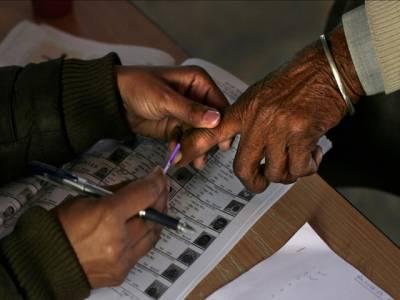 بھارت میں ریاستی انتخابات کیلئے پولنگ شروع