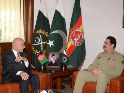 آرمی چیف جنرل راحیل شریف کی افغان صدر اور چیف ایگزیکٹو سے کابل میں ملاقات،باہمی تعاون کو سراہا گیا
