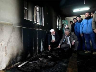 فلسطین میں اسرائیلی انتہاءپسندوں نے مسجد کو آگ لگادی
