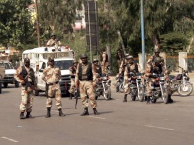 رینجرز کا کراچی کے مختلف علاقوں میں چھاپہ ،10 دہشتگرد گرفتار