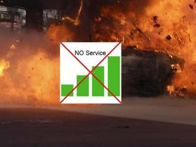 یوحناآباد دھماکے ، موبائل فون سروس بند