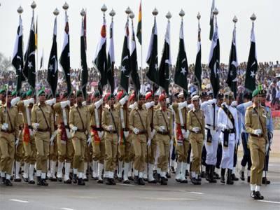 یوم پاکستان پریڈ میں شریک فوجی دستوں کے اعزاز میں ظہرانہ ، صدر پاکستان مہمان خصوصی تھے