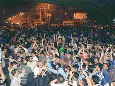 کریم آباد کے دکانداروں نے پی ٹی آئی کا کیمپ آفس دوسری جگہ منتقل کرنے کی درخواست دیدی