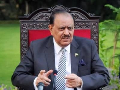 صدرمملکت کی مہمان صدر سے ملاقات، دفاع سمیت مختلف شعبوں میں تعاون کو مزید فروغ دینے کے خواہاں ہیں:ممنون حسین